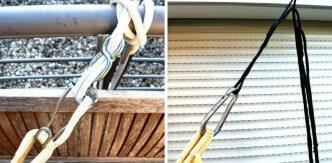 Hängematten-Aufhängungen Jobek Pro und 1-2-3-Seil im Einsatz