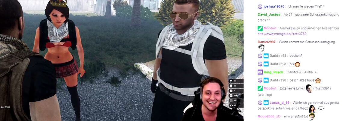Streamer Shlorox spielt ARma 3 auf Twitch.tv (Screenshot)